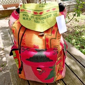 Handbags - 🆕handmade recyclable canvas drawstring backpack