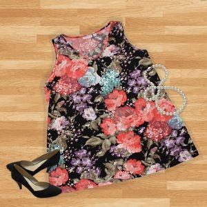 """Susan Graver Dresses & Skirts - """"Plus"""" Floral Susan Graver Tunic or Dress"""