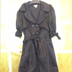 Black dressy rain coat (not water proof)