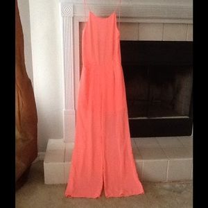 Other - NWOT Boutique Coral Jumpsuit Small