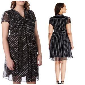 MSK Dresses & Skirts - NEW Plus Size Polka Dot Dress