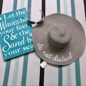 Boutique Accessories - Do Not Disturb Sun Hat 👒