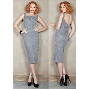 Stop Staring Dresses & Skirts - Stop Staring Houndstooth Melody Wiggle Dress