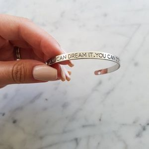 "WILA Jewelry - SILVER ""IF YOU CAN DREAM IT YOU CAN DO IT"" BANGLE"