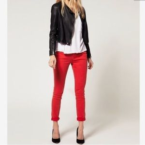 3/$25 Red Ankle Pants