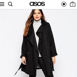 ASOS Curve Jackets & Blazers - NWT ASOS CURVE Mac With Waterfall Front TRENCH