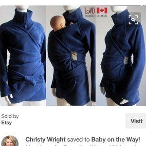 Jackets & Blazers - Fleece winter maternity coat