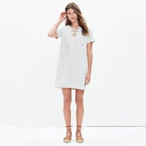 Madewell Harbor Lace Up Shift Dress