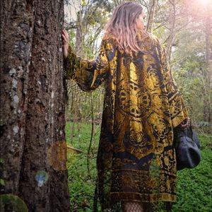 Handmade Dresses & Skirts - Silk Boho Gypsy Fringe Kimono