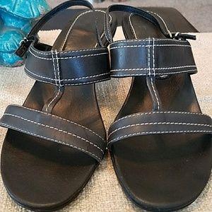 """White + Warren Shoes - """"White"""" Strappy Summer Sandals"""