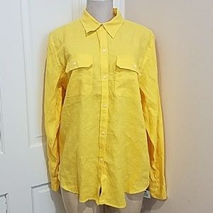 American Living Yellow Dress Shirt size XL!