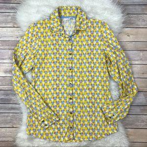 Boden Tops - Boden Hearts Crinkle Jersey Shirt