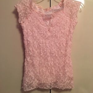 MCM Tops - Light Pink Lace Top