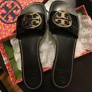 Tory Burch Shoes - Tory Burch Grania Patent Calf slides