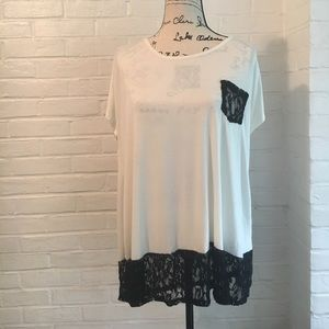 Tops - 🤗REDUCED🤗 Plus Size White Lace Top NWT
