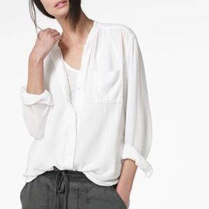 James Perse Tops - James Perse Collarless Botton Down Top ⚡️Read⚡️