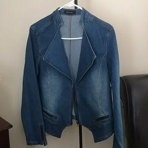 Fashion to Figure Jackets & Blazers - Fashion to Figure denim jacket / blazer size 1