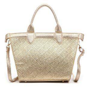 Pink Haley Handbags - Gold Tote