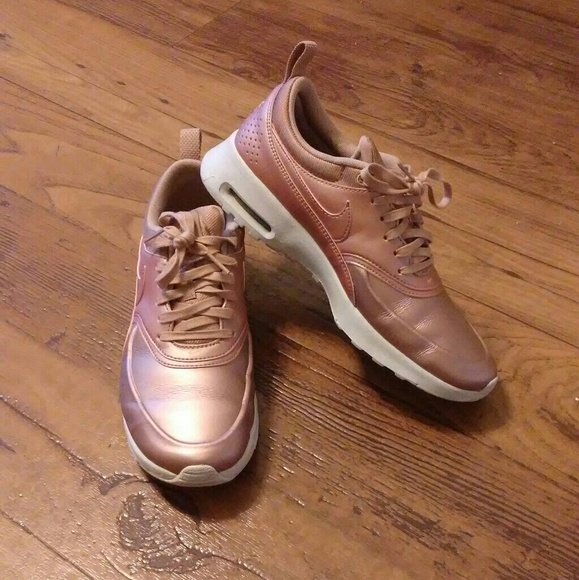 44 off nike shoes nike air max thea rose gold sneakers. Black Bedroom Furniture Sets. Home Design Ideas