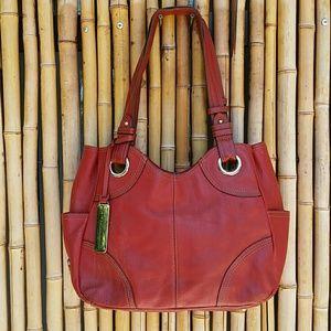 Tignanello Handbags - Tignanello Red Pebble Leather Bag!
