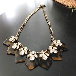 Tortoise bee JCrew necklace