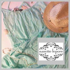 Nanette Lepore Dresses & Skirts - Sale! NWT! Nanette Lepore Swim Embr. Coverup Dress