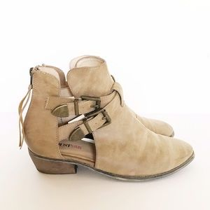 Tan Buckle Booties