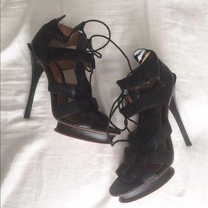 L.A.M.B. Shoes - L.A.M.B. Jaco Tie Up Sandal in black
