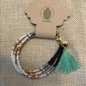 Bondhu Jewelry - 🌺 Beaded Tribal Bracelet with Tassel