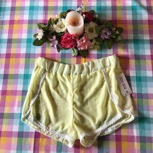 Yellow Lace Shorts
