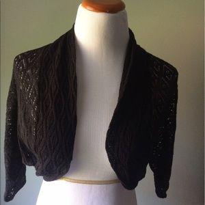 Loft black shrug sweater