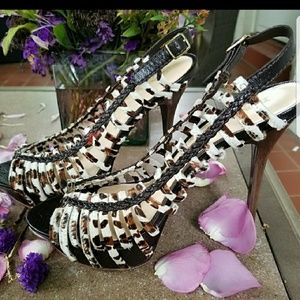 L.A.M.B Dione Party Heels 9.5 NWOT