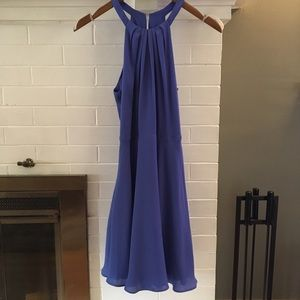 Express Fit and Flare Halter Dress