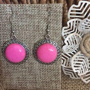 Jewelry - 🇺🇸 Pink Howlite Earrings