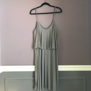 Slouchy Gray Midi Dress