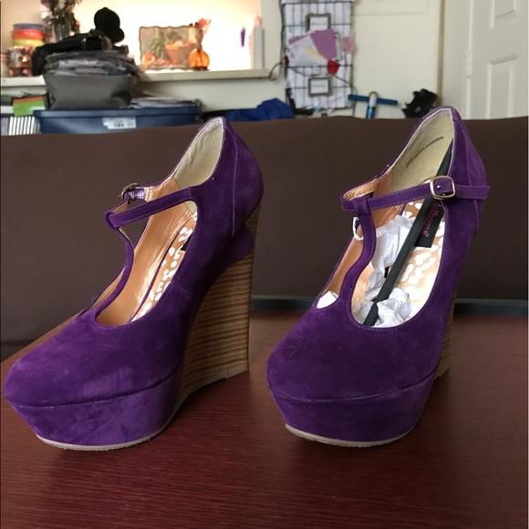 f8f809bceb Dollhouse Shoes - Purple wedges