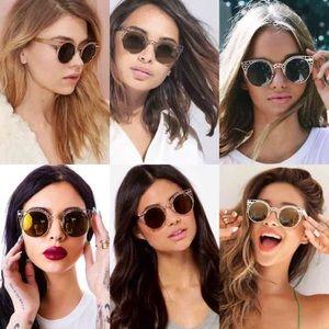 215d4a433a Quay Australia Accessories - Quay Fleur Round Cat-Eye Sunglasses Gold