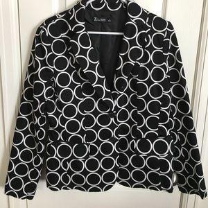 NY&Co Black & White 7th Ave Blazer Sz 12 Worn Once