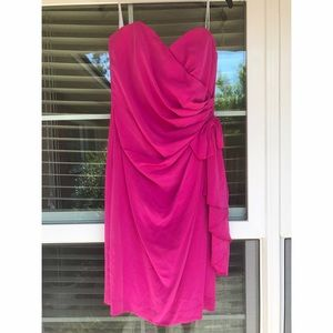Dresses & Skirts - NET VINTAGE Hot Pink Strapless Dress