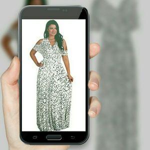 Dresses & Skirts - NWT BLK N WHITE MAXI DRESS