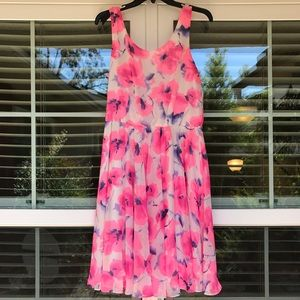 Betsey Johnson Dresses - Neon Pink Floral Dress