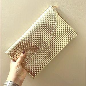 other Handbags - GOLDEN CLUTCH (Also crossbody or shoulder purse)