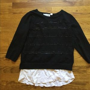 Angel Of The North Sweaters - Black sweater with white cutouts