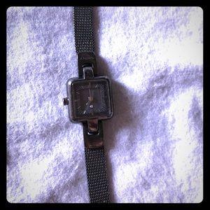 DKNY Gunmetal/black link watch