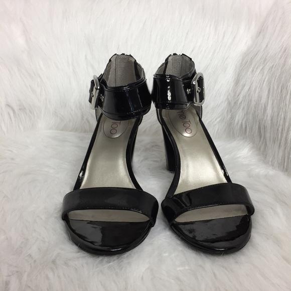 me too Shoes - Me Too Lotus Ankle Strap Heels in Black