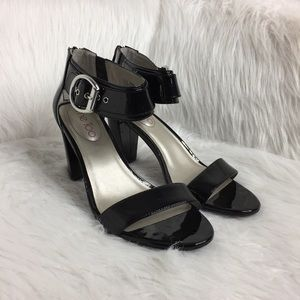 me too Shoes - Me Too Lotus Ankle Strap Heels in Black