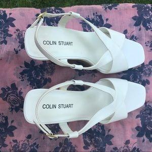 Colin Stuart Shoes - BRAND NEW Colin Stuart White Wedges, Size 11
