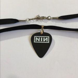 Nine inch nails Guitar Pick plectrum Guitar pick necklace