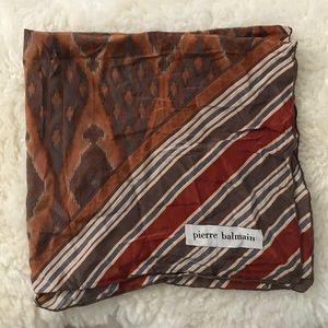 Balmain boho silk scarf