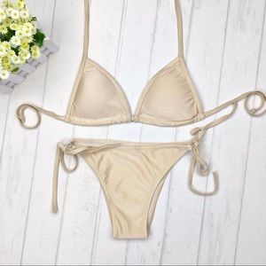 Other - Womens padded GOLD sexy two piece bikini summer